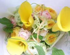 花束に思いを込めてサプライズプレゼント